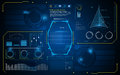 Abstract HUD interface UI future virtual artificial intelligence innovation concept design background template