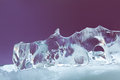 Abstract ice texture decorative background. Frozen violet crystal element. close-up soft focus Royalty Free Stock Photo