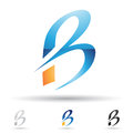 Abstract icon for letter b vector illustration of icons based on the Royalty Free Stock Photos