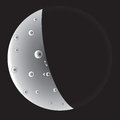 Abstract icon of moon vector illustration Royalty Free Stock Photo