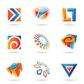 Abstract Icon Set 12 Stock Photos