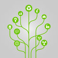 Abstract icon tree illustration - environment, ecology and nature protection concept Royalty Free Stock Photo