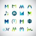 Abstract icons based on the letter M Royalty Free Stock Photo