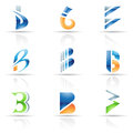 Abstract icons for letter B Stock Images