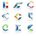 Abstract icons for letter C Royalty Free Stock Image