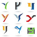 Abstract icons for letter Y Royalty Free Stock Images