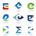 Abstract icons resembling letter E Stock Photography