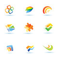 Abstract icons set collection of business symbols Stock Photo