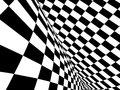 Abstract illusion black and white Royalty Free Stock Image