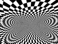 Abstract illusion black and white Stock Images