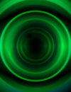 Abstract Illustration - Dark Green Circles Stock Images