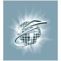 Abstract illustration disco club mirror ball glitter ball wit vector with cartoon lightning around it can be used as logo or icon Stock Image