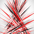 Abstract illustration with dynamic grungy lines. Textured red pa