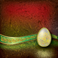 Abstract illustration with easter egg Stock Images