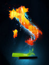 Abstract illustration Italy Royalty Free Stock Photography