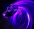Abstract illustration male lion head isolated over black Royalty Free Stock Photography