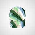 Abstract illustration on peaked cap template editable Stock Photos