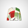 Abstract illustration on sweater template editable Stock Photo