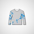 Abstract illustration on sweater template editable Royalty Free Stock Photography