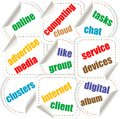 Abstract illustration with various social network Stock Photo