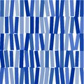 Abstract image of blue rectangles on whit background