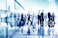 Abstract image of business people s busy life Stock Image