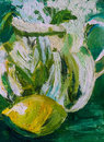Abstract, Impressionistic Oil ...