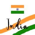 Indian flag. Flat  illustration EPS 10 Royalty Free Stock Photo