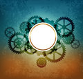 Abstract industrial background in the style of steampunk Royalty Free Stock Photography