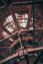 Abstract industrial metal construction, vertical image Royalty Free Stock Photo