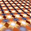 Abstract Infinite Glowing Tiles - Bright Brown Royalty Free Stock Photo