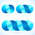 Abstract infinity blue vector disks symbols connected Stock Photos