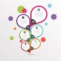 Abstract infographic flower template. Colorful. Vector Royalty Free Stock Photo