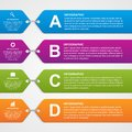 Abstract infographic options banner design elements vector illustration Stock Photography
