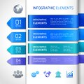 Abstract infographics design elements business and icons for banners titles options and labels vector illustration Stock Photography