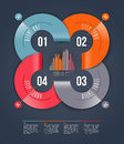 Abstract infographics design with numbered paper elements Royalty Free Stock Photo
