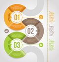Abstract infographics template design with numbered paper elements Stock Image