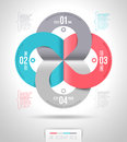 Abstract infographics template design with numbered paper elements Stock Photos