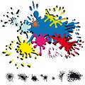 Abstract inkblots Royalty Free Stock Photo