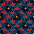 Abstract insects pattern Royalty Free Stock Images