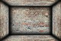 Abstract interior brick finishing backdrop empty room Royalty Free Stock Images