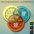 Abstract intersection infographics modern vector circle infographic elements Stock Photos