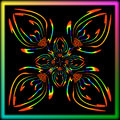 Abstract iridescent flower aster and lily Royalty Free Stock Photo