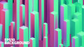 Abstract isometric boxes 3d background. Vector cubes pattern. Contrast illustration