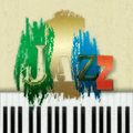 Abstract jazz music background grunge with the word and piano Royalty Free Stock Photos
