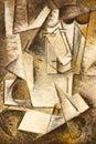 Abstract kubismeolieverfschilderij Royalty-vrije Stock Fotografie