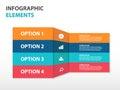 Abstract label business Infographics elements, presentation template flat design vector illustration for web design marketing