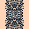 Abstract lace ribbon vertical seamless pattern Royalty Free Stock Photo