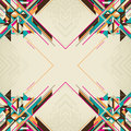 Abstract layout with geometric abstraction Stock Photo