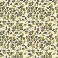 Abstract leaf, green ornament pattern background Royalty Free Stock Photo